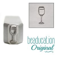 938 White Wine Glass Beaducation Original Design Stamp