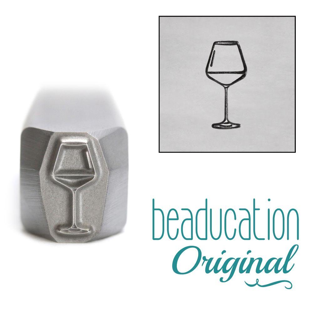 944 Red Wine Glass Beaducation Original Design Stamp