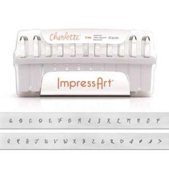 ImpressArt Charlotte 3mm Alphabet Upper Case Letter Metal Stamp Set
