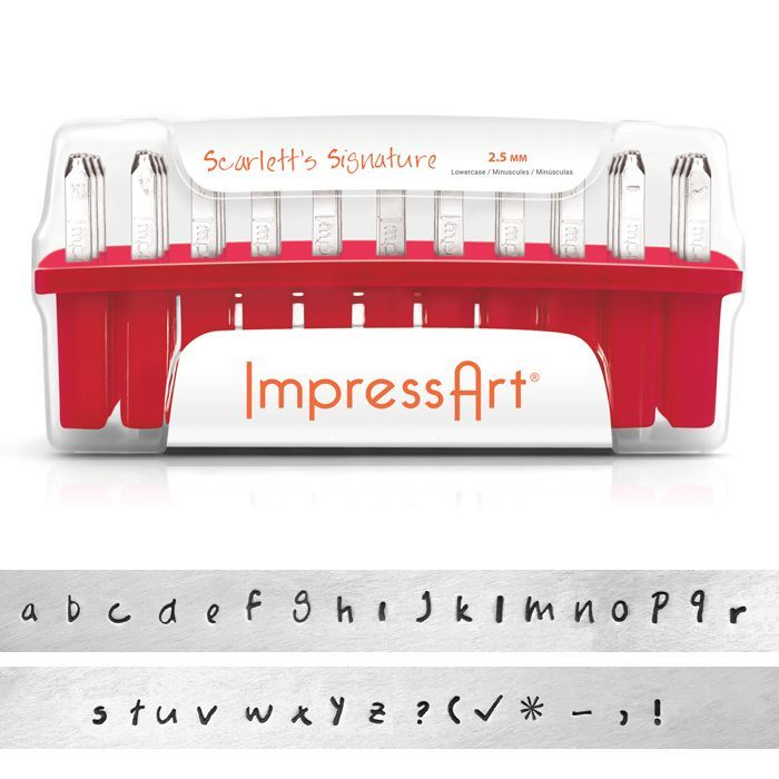 ImpressArt Standard Scarlett's Signature 2.5 mm Alphabet Lower Case Letter