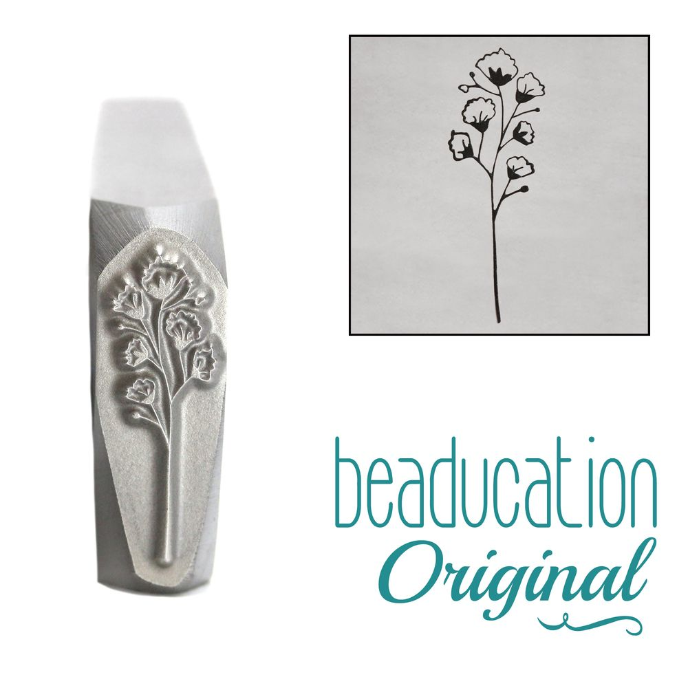 946 Baby's breath 1 flower Beaducation Original Design Stamp