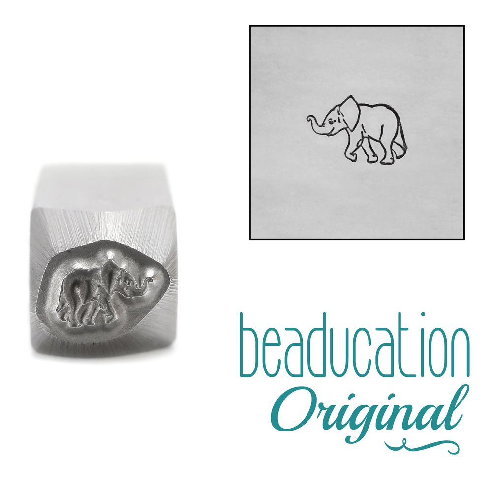 903 Baby Elephant Beaducation Original Design Stamp