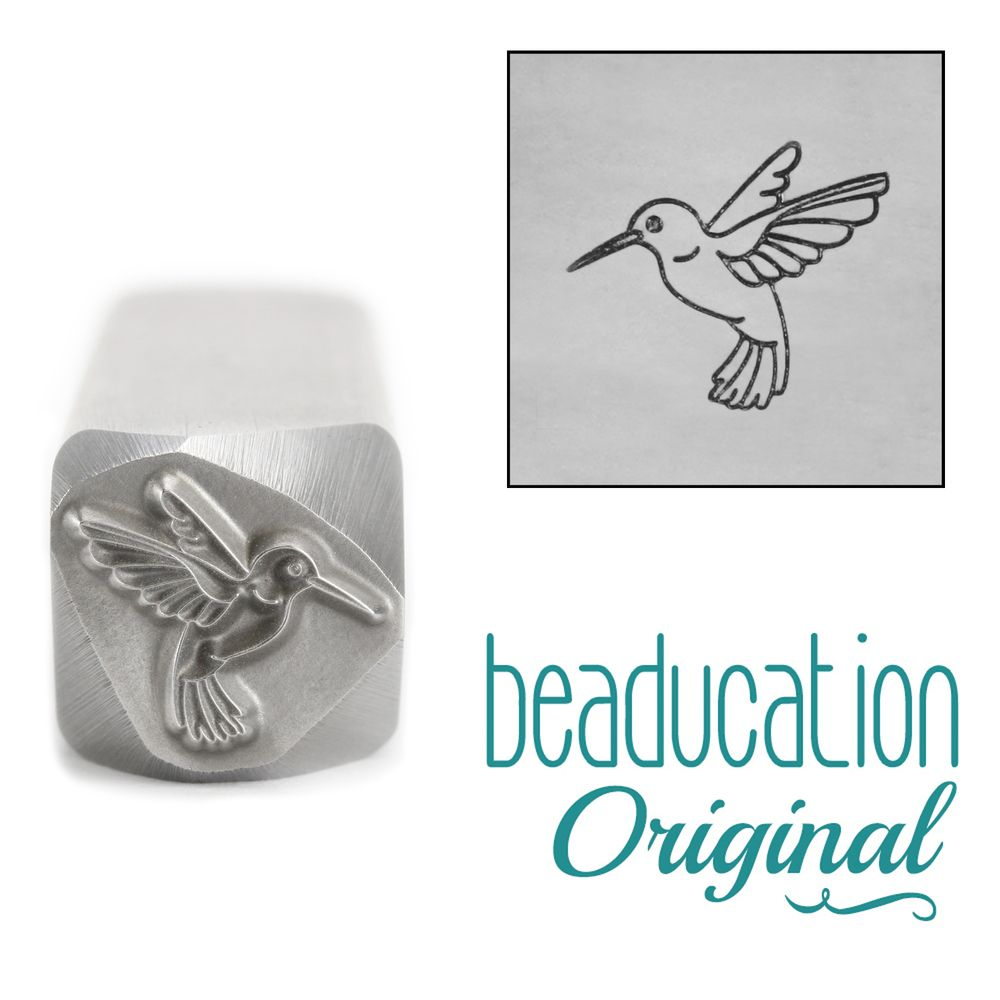 861 Hummingbird Beaducation Original Design Stamp