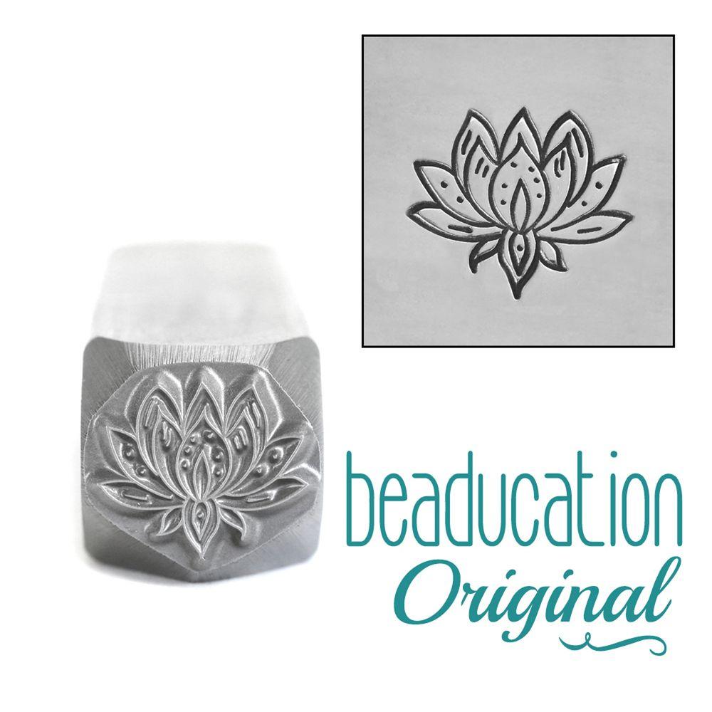 602 Large Lotus Flower Beaducation Original Design Stamp