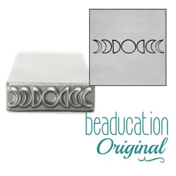 961 Moon Phases 17 mm  Beaducation Original Design Stamp