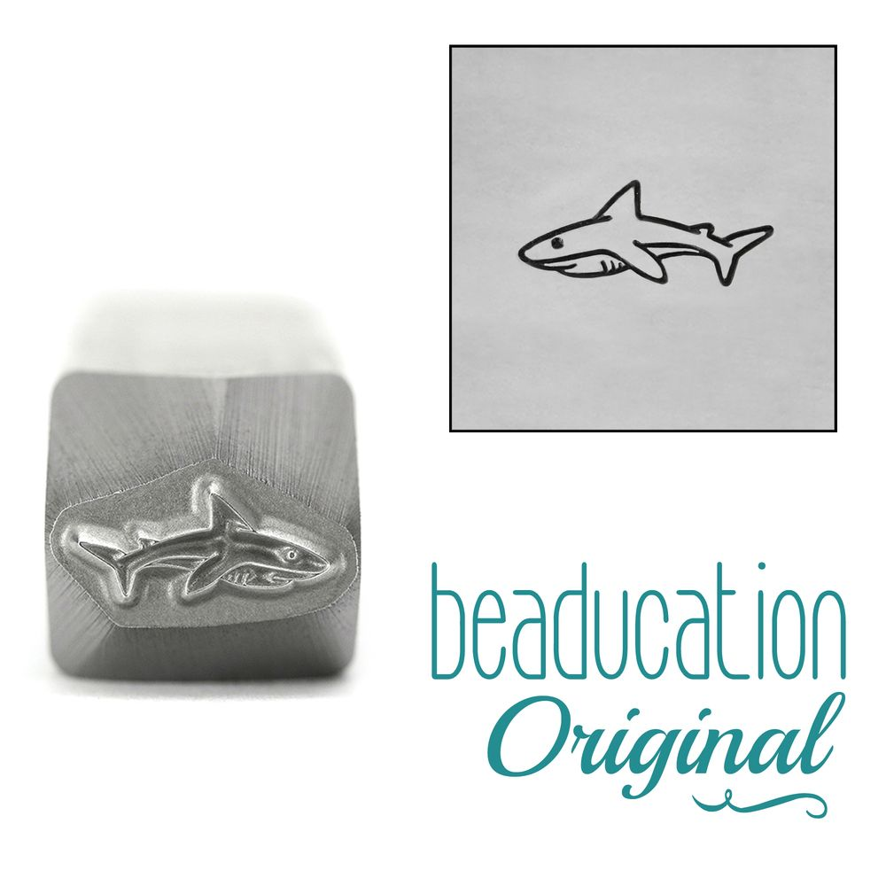 962 Mama or Papa Shark Beaducation Original Design Stamp 10 mm