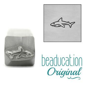 962 Mama or Papa Shark Beaducation Original Design Stamp 10 mm