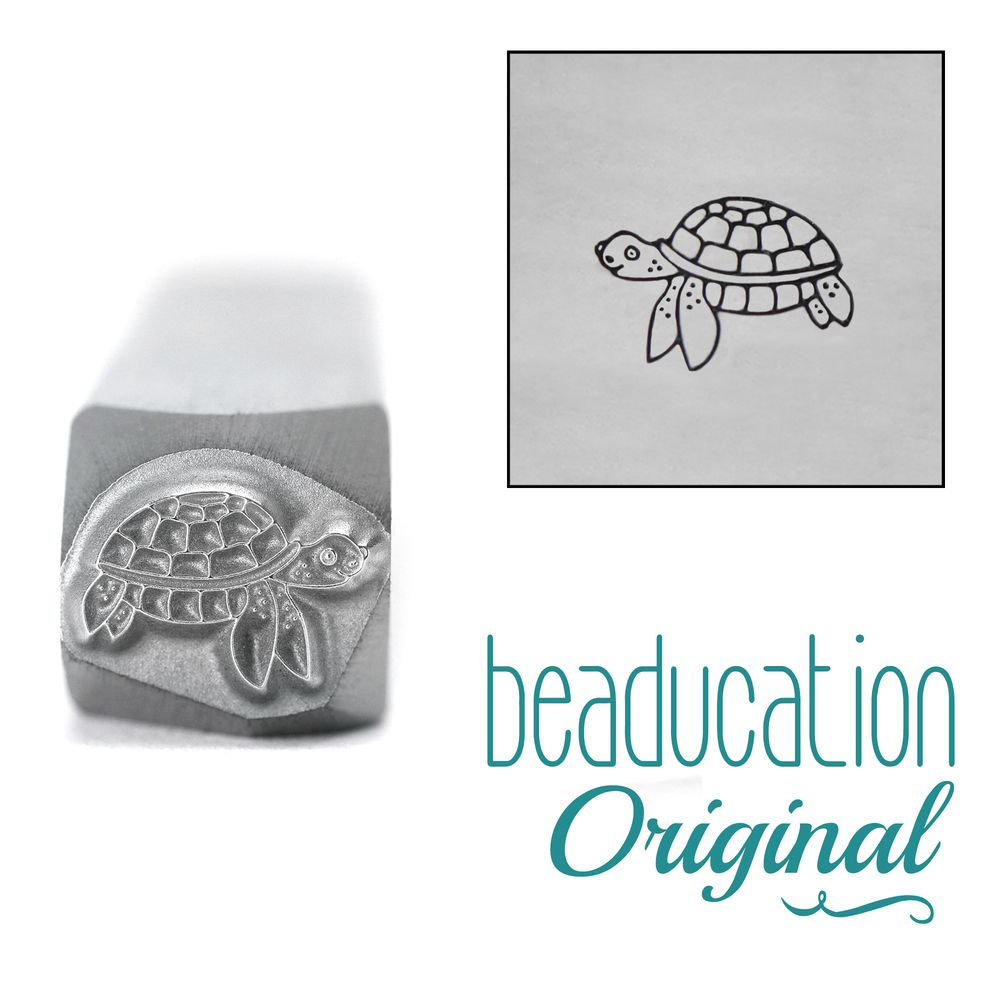 964 Sea Turtle Beaducation Original Design Stamp