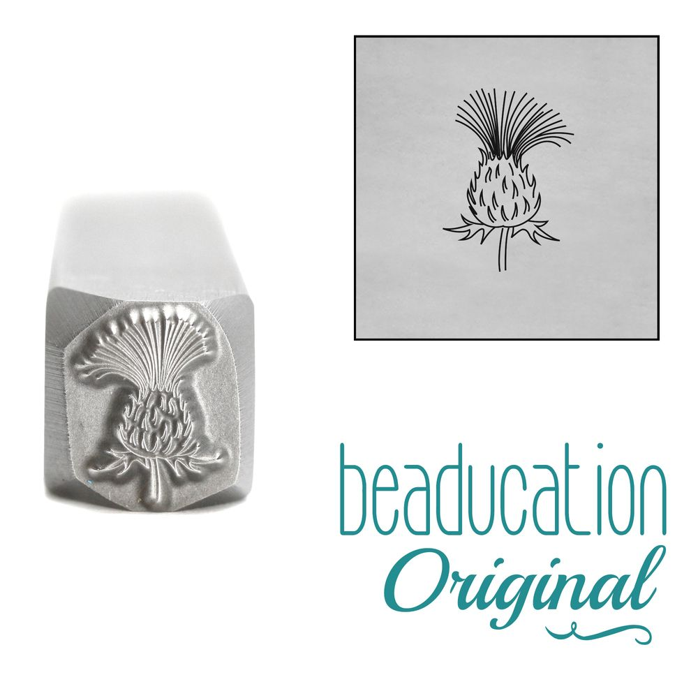 933 Thistle Flower Beaducation Original Design Stamp