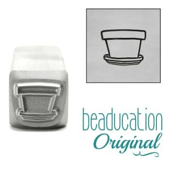988 Terra Cotta Flower Pot 9mm Beaducation Original Design Stamp