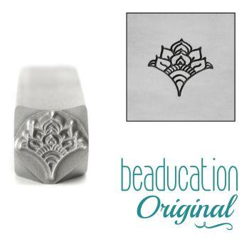 986 Fan 5, Floral Mandala Element 8mm Beaducation Original Design Stamp