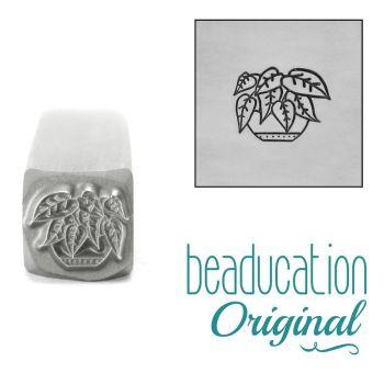 983 Heartleaf Philodendron Plant Metal Design Stamp, 8mm  Beaducation Original Design Stamp