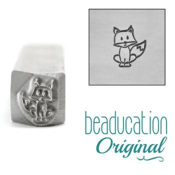 469 Fox Beaducation Original Design Stamp 7 mm