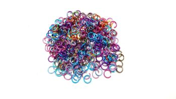 Aluminium Metallic Opened Jump Rings Mixed 6 mm Diameter 200 pieces