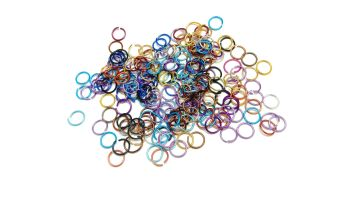 Aluminium Metallic Opened Jump Rings Mixed 10 mm Diameter 200 pieces