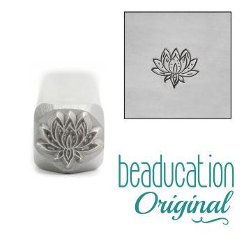 619 Medium Lotus Flower 8 mm Beaducation Original Design Stamp