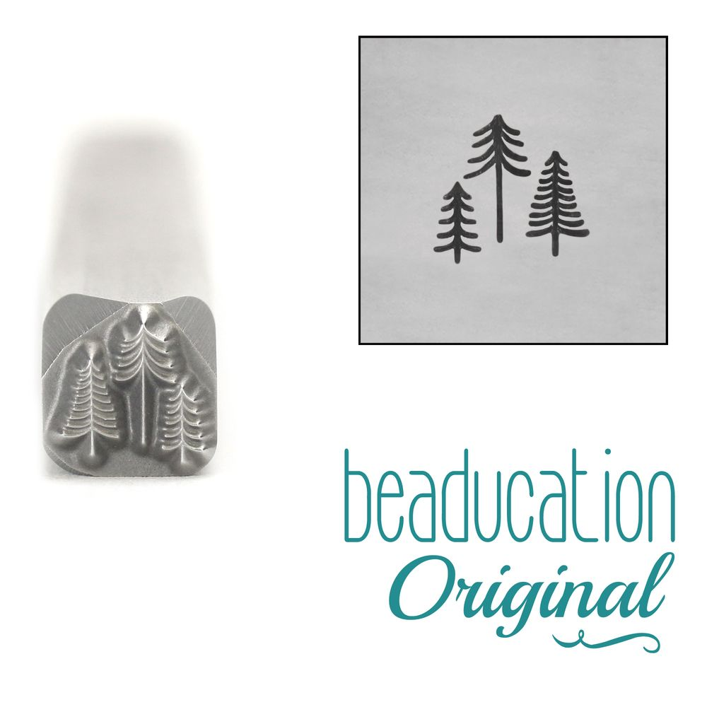 870 Three Tiny Trees Design Stamp, 5 mm Beaducation Original Design Stamp