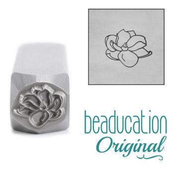 857 Magnolia Open Flower 1, 10 mm Beaducation Original Design Stamp