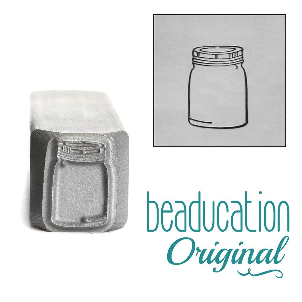 470 Mason Jar 11.5 mm Beaducation Original Design Stamp