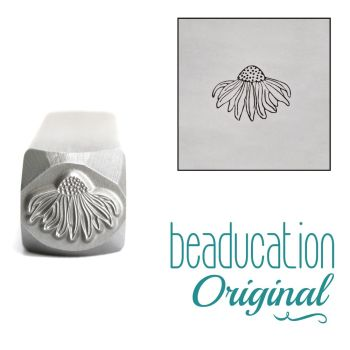 887 Echinacea Flower Metal Design Stamp, 7mm Beaducation Original Design Stamp