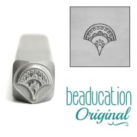 DS710 Fan 2, Whimsical Beaducation Original Design Stamp 7 mm