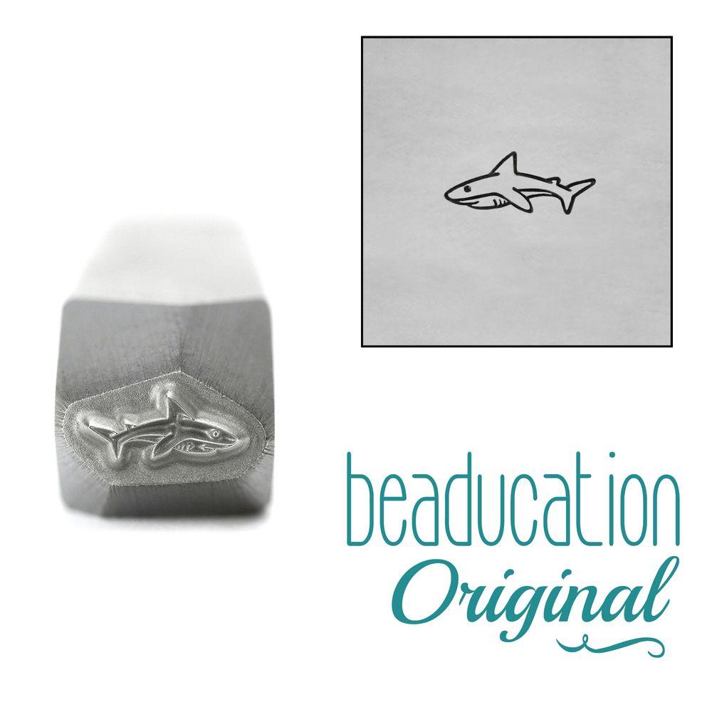963 Baby Shark Beaducation Original Design Stamp 6.5 mm