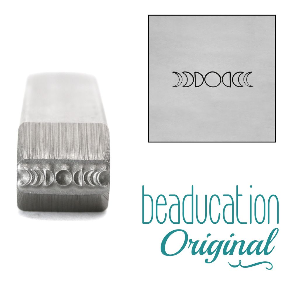 993 Moon Phases 11.2 mm  Beaducation Original Design Stamp