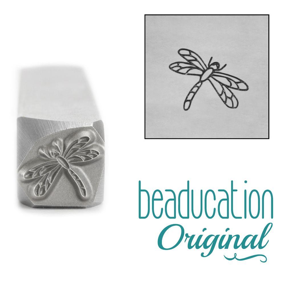 860 Dragonfly Beaducation Original Design Stamp 8.2 mm