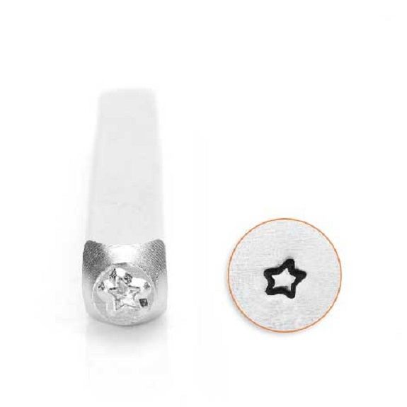 ImpressArt Small Fun Star Outline 3mm Metal Stamping Design Punch
