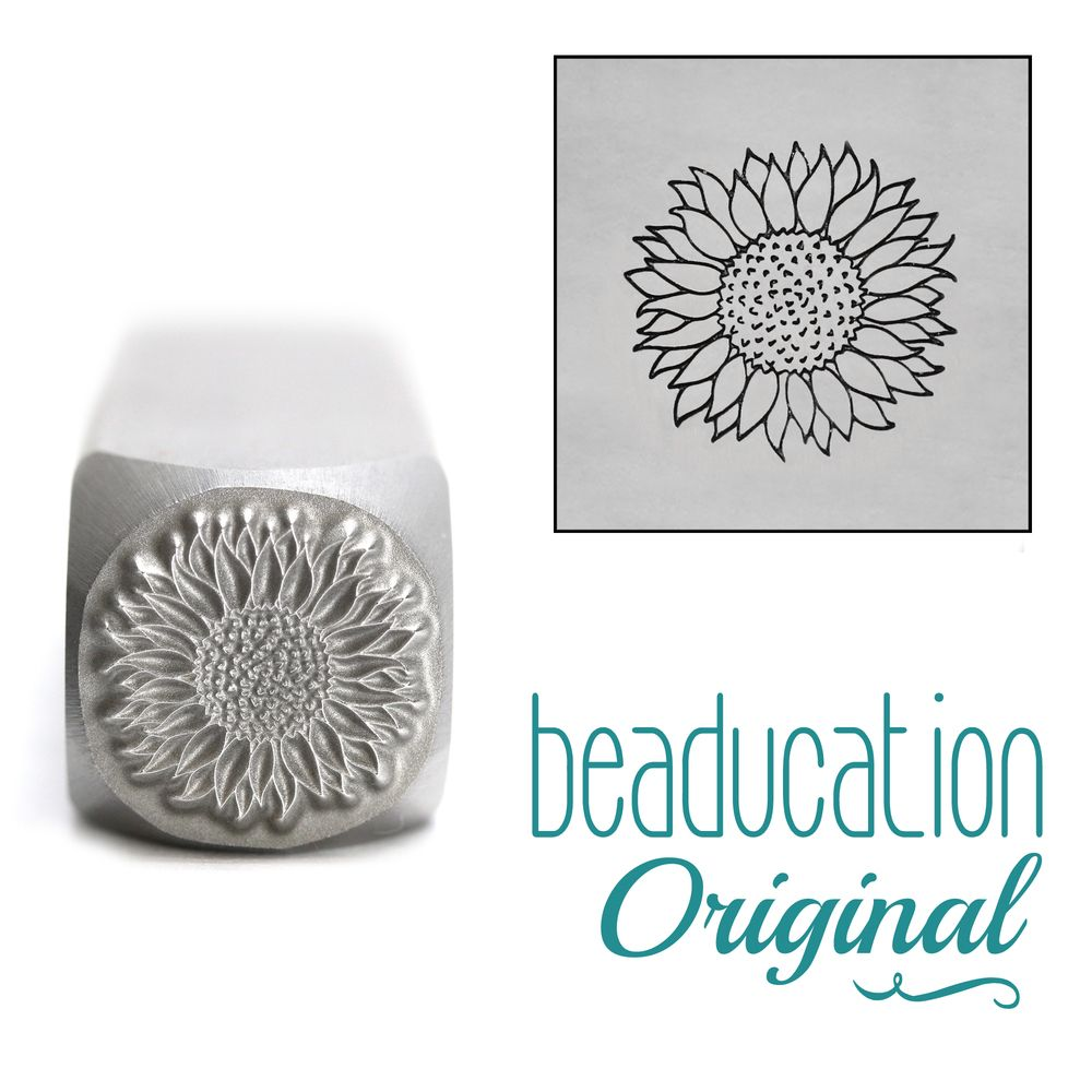 950 Sunflower 10 mm  Beaducation Original Design Stamp