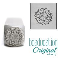 950 Sunflower 10 mm  Beaducation Original Design Stamp