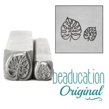 989 Monstera Leaf Set 5 and 8 mm Beaducation Original Design Stamps