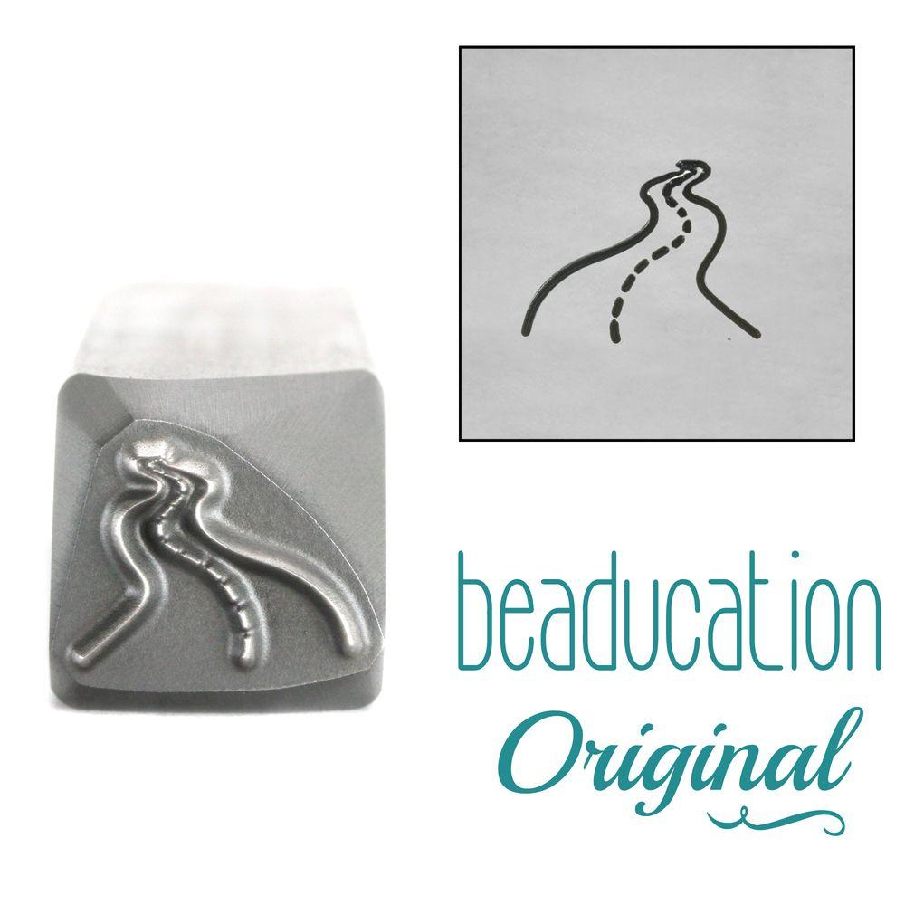 1013 Curvy, Winding Road Beaducation Original Design Stamp