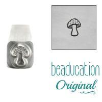 1024 Small Mushroom Metal Design Stamp, 4.5mm  Beaducation Original