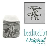 1023 Mushroom Bunch Metal Design Stamp, 11.2mm Beaducation Original Design Stamp