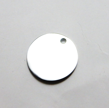 STAINLESS STEEL BLANK WITH HOLE - ROUND - 25 MM DIAMETER - 2MM THICK
