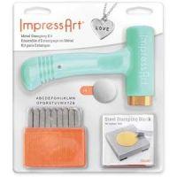 IMPRESSART - Basic Uppercase Metal Stamp Starter Kit 3mm