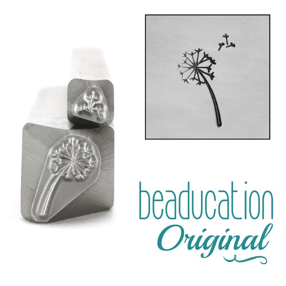 239 Dandelion and Fluff  Beaducation Original Design Stamp