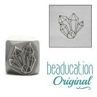 DSS1069 Crystal Cluster Metal Design Stamp, 10.5mm - Beaducation Original
