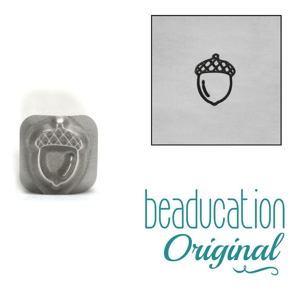 1031 Acorn Metal Design Stamp, 5mm - Beaducation Original