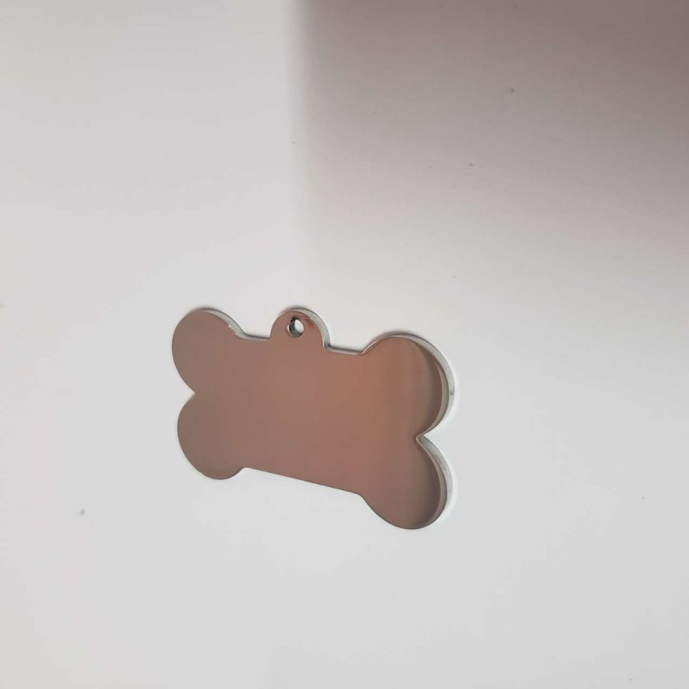 STAINLESS STEEL BONE STAMPING BLANK - 29mm x 48mm - 2.5mm hole - 2MM THICK