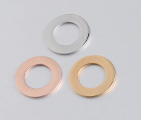 STAINLESS STEEL ' 25 MM ROUND WASHER ' STAMPING BLANK - SILVER GOLD OR ROSE GOLD PLATE -  PACK OF 1