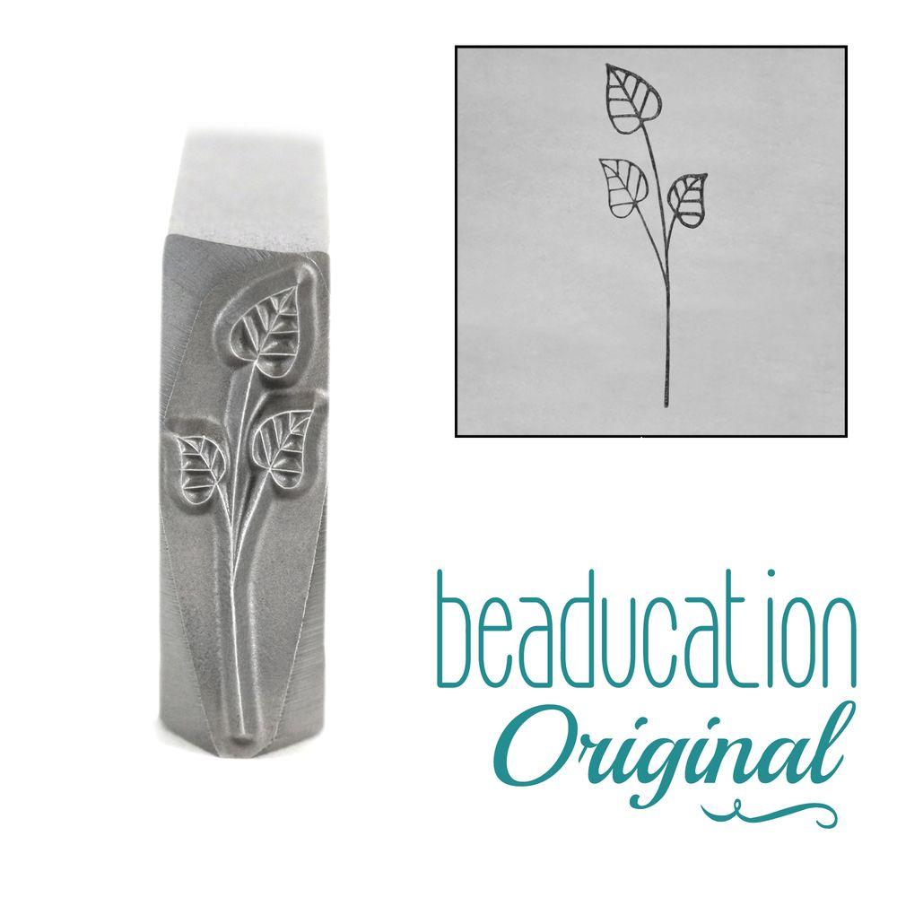 805  Long Stem with Three Leaves 17 mm Original Design Stamp