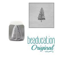 DS539 Medium Evergreen Tree Metal Design Stamp, 8mm  Beaducation Original Design Stamp
