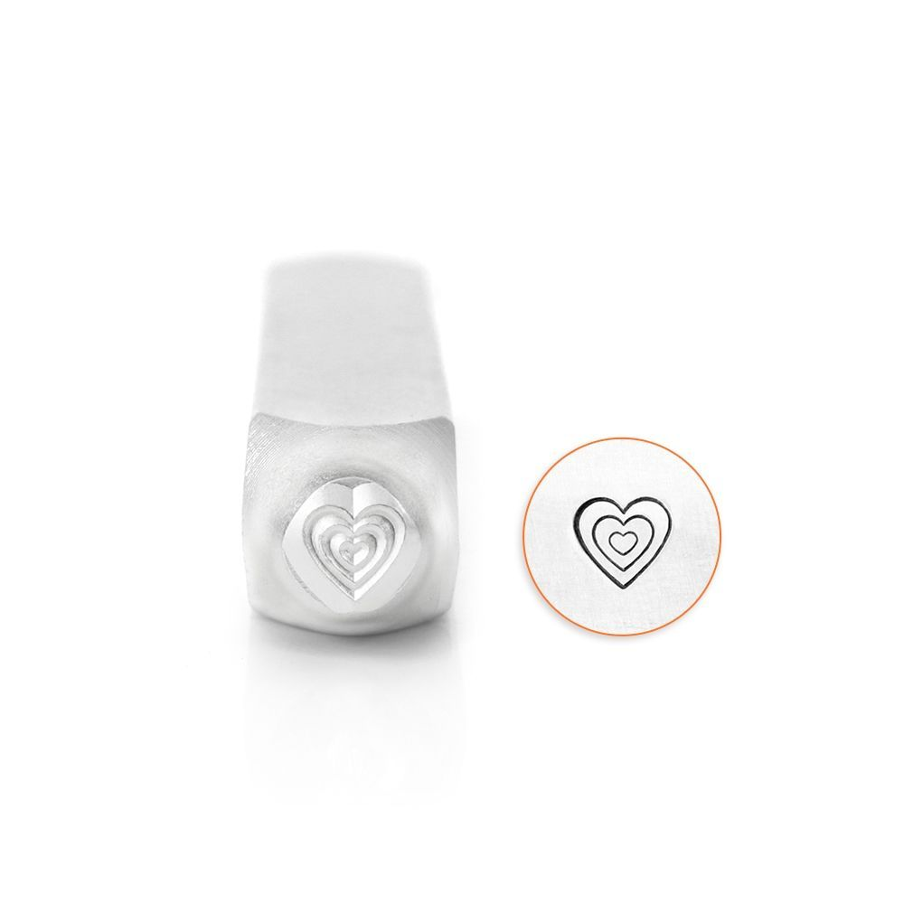 ImpressArt Multi Heart 6mm Metal Stamping Design Punch