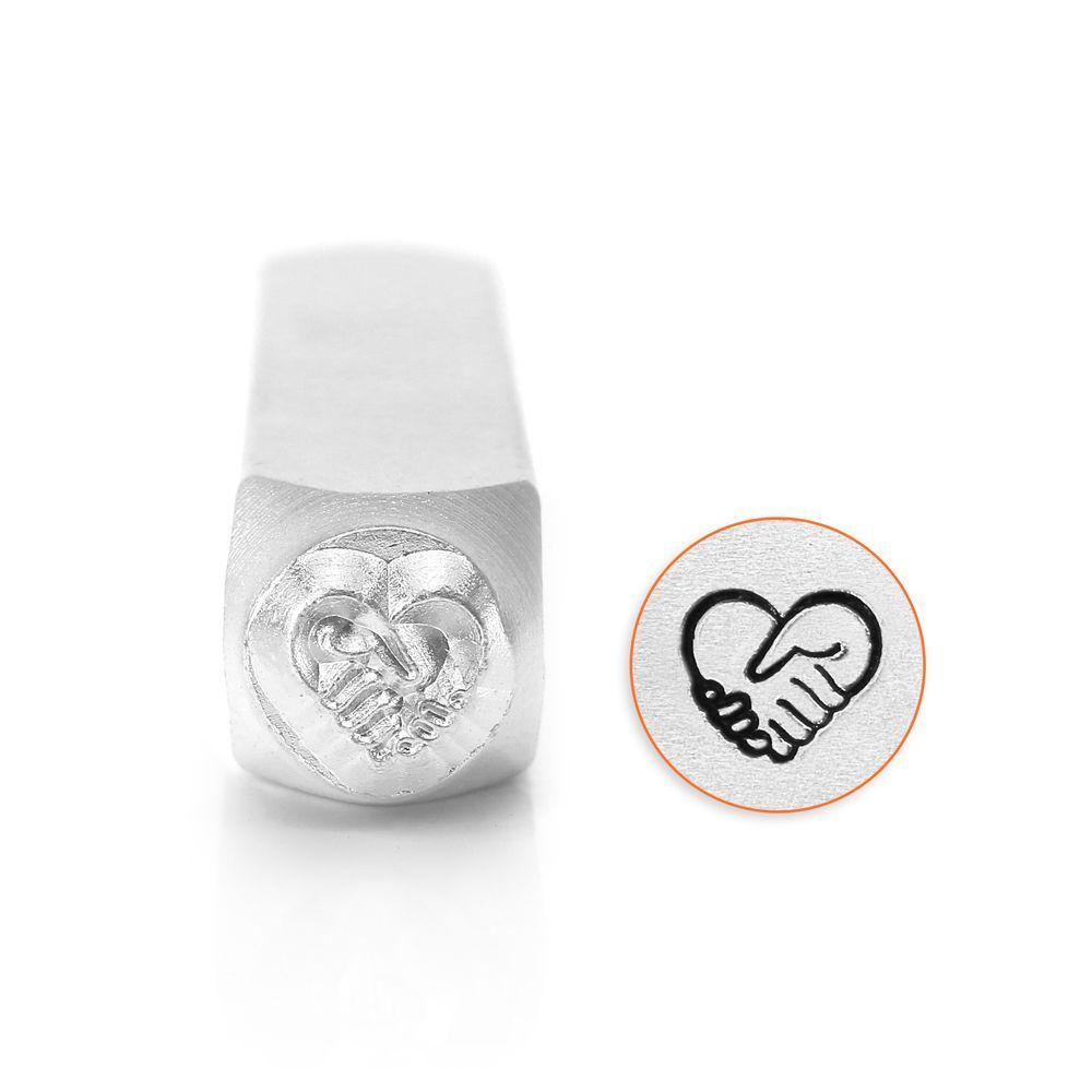 ImpressArt Heart Hands 6mm Metal Stamping Design Punch
