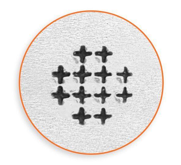 ImpressArt Small Cross Texture 6mm Metal Stamping Design Punch