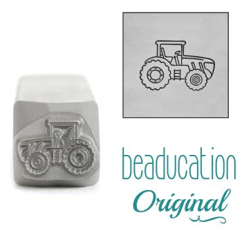 DSS1086 Tractor Facing Right Beaducation Original Design Stamp 11 mm