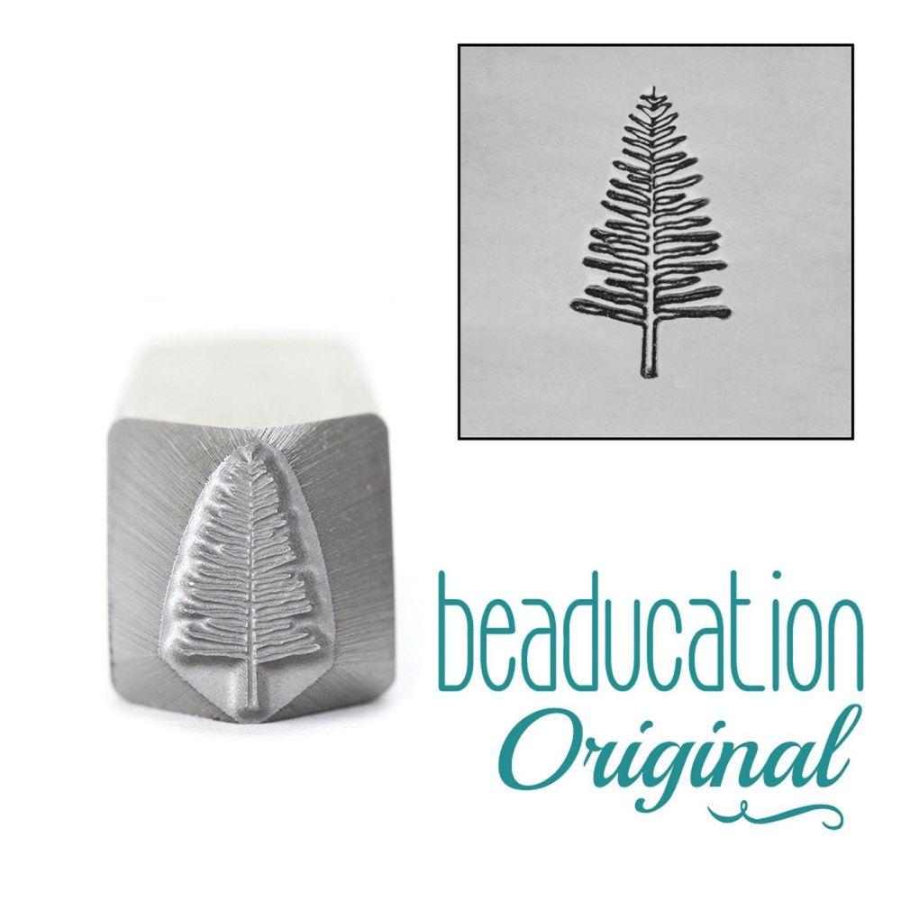 540 Large Evergreen Tree Metal Design Stamp, 11mm  Beaducation Original