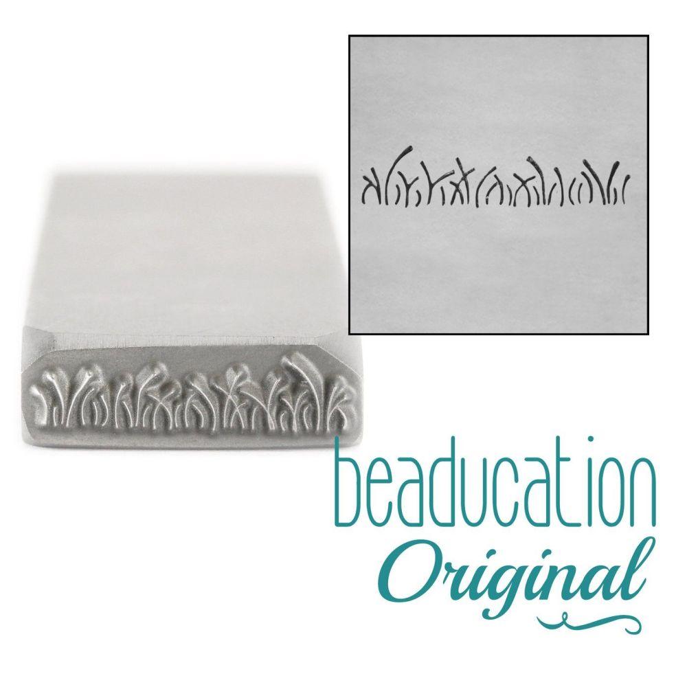 854 Grass Metal Design Stamp, 17mm - Beaducation Original